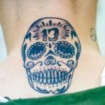 Black & Gray Sugar Skull tattoo