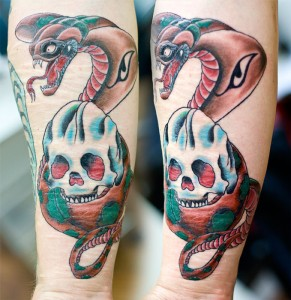 Skull & Cobra tattoo