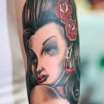 classic lady tattoo