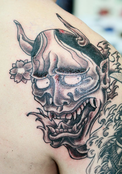Tatuoinnit / Tattoos » Hannya mask tattoo