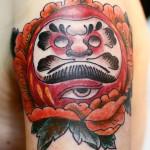 daruma & peony tattoo